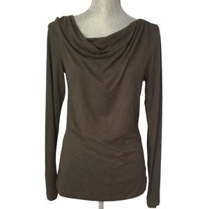 HORNY TOAD Moss Green Long Sleeve Cowl Neck Top S